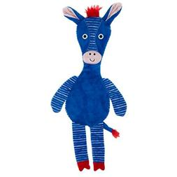TOP PAW Zebra Flattie Dog Toy - Crinkle, Squeaker