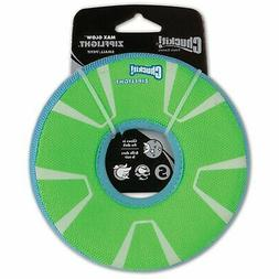 CHUCKIT! Zipflight Max Glow Dog Toy Small Green & White