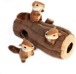 ZIPPY BURROW INTERACTIVE LOG TOY WITH CHIPMUNKS - HAS 3 SQUE