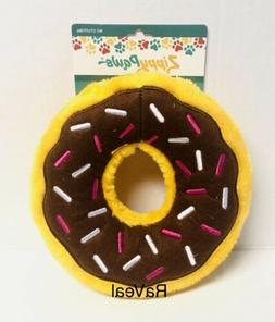 Zippy Paws Chocolate Donut Plush No Stuffing Dog Toy Jumbo S