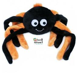 Zippy-Paws Halloween Spider Grunter Dog Toys Size Large: Pur
