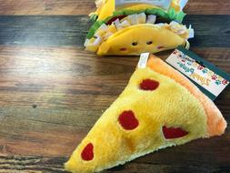 Zippy Paws Plush Dog Toy Pizza or Taco