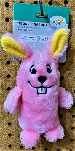 "ZIPPY PAWS SQUEAKIE BUDDIE 7"" Pink Bunny Rabbit Squeaky Dog"