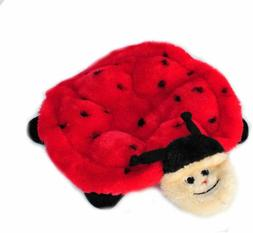 ZippyPaws Squeakie Crawler 6-Squeaker Plush Dog Toy Ladybug