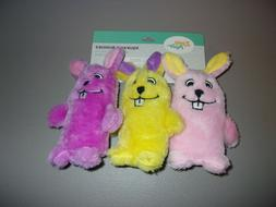 ZippyPaws ZPC1800 Squeakie Buddies 3-Pack Easter Bunnies Plu
